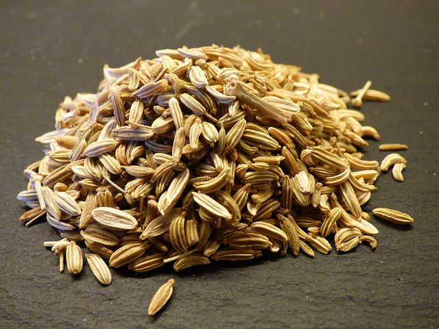 Fennel seeds help with indigestion as well as menstrual cramps.