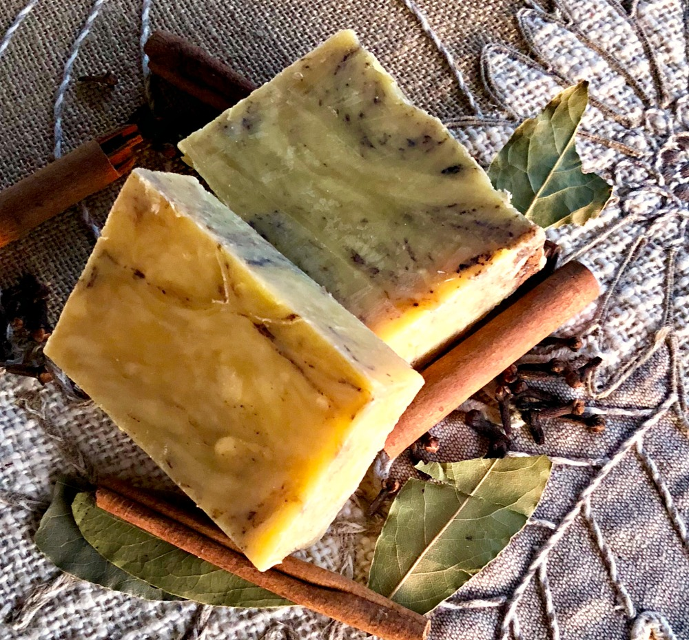Holiday Spice hot process soap is my new favorite essential oil soap!
