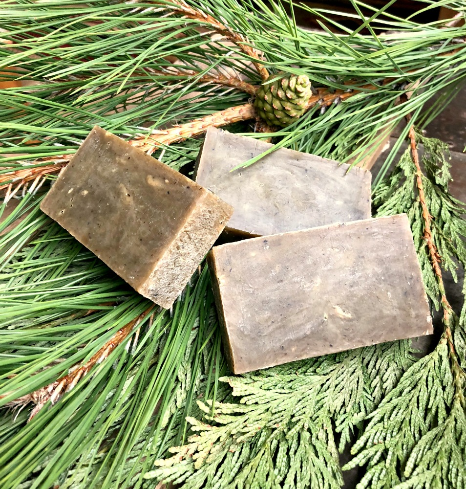 If you love the scent of fresh pine and cedar, you'll love this easy handmade natural soap recipe to make!