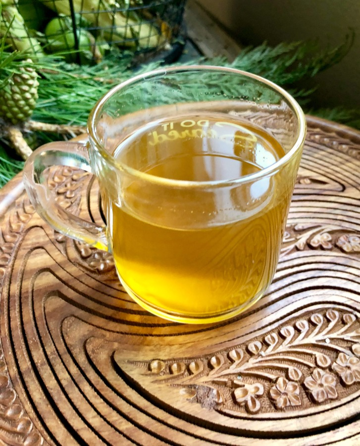 Here is a cup of Turmeric Spice tea from  St. Fiacre's Farm.  And it's just delicious!