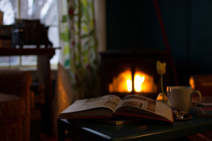 Soft lighting makes for good Hygge. A good book helps, too.