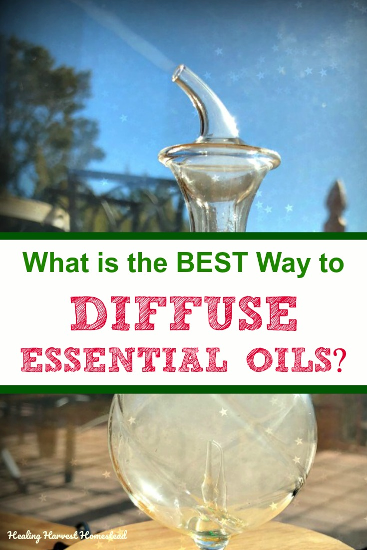 There are several ways to diffuse essential oils into the air, but they are not created equal. Find out what is the best way to diffuse essential oils for health and a great smelling home. This nebulizer is a great example, but we'll take a look at all the methods for diffusing. #essentialoils #howtodiffuse #diffuse #methods #waysto #healingharvesthomestead