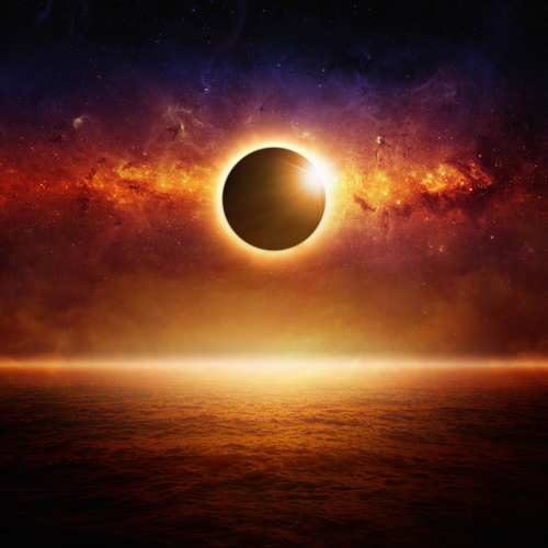 This is a picture of an eclipse, but a solar flare from the sun could potentially cause an EMP.