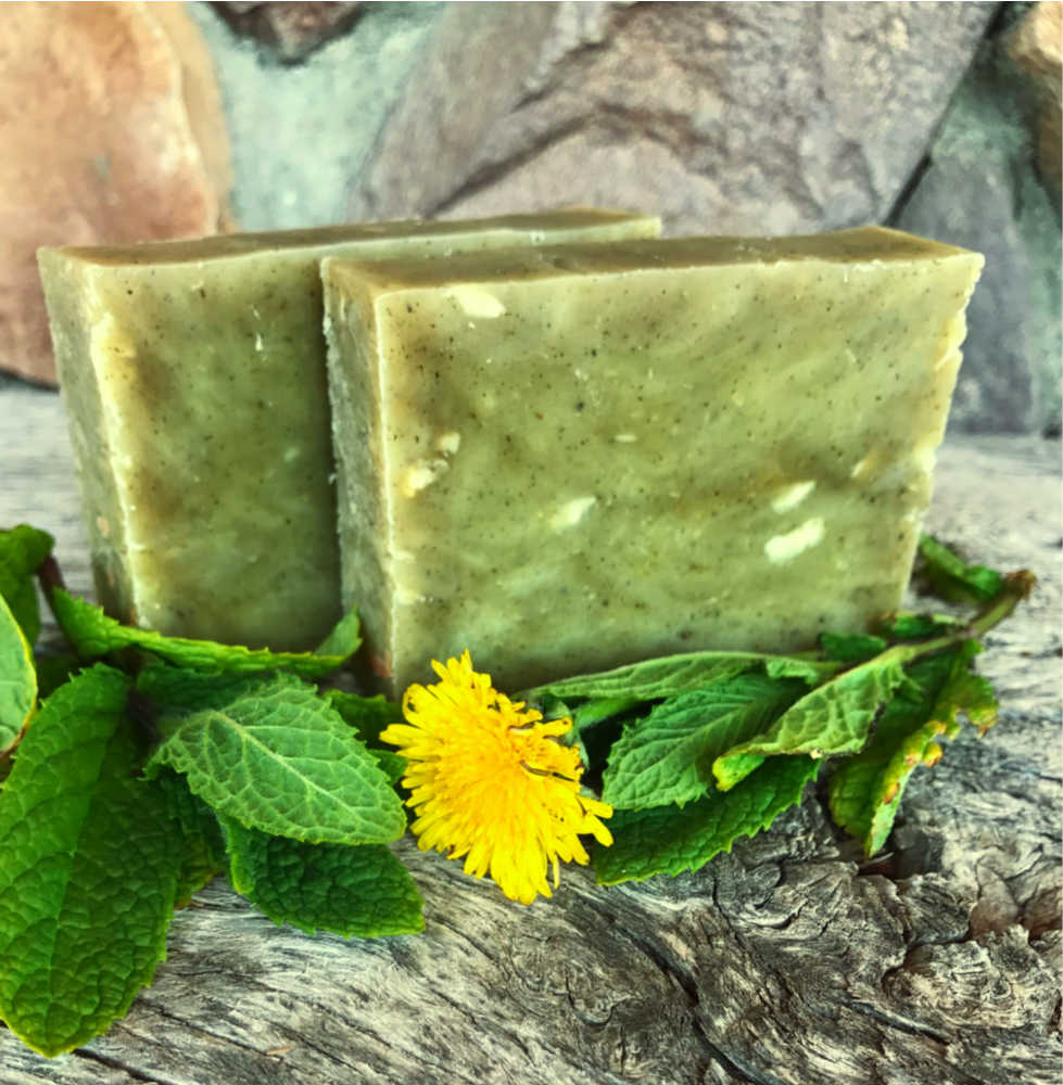 Beautiful, green, and refreshing for your mind and heart. I love this soap, and I think you will too!