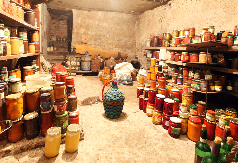 Planning your long term food storage now is a good way to start being prepared. If you have a cool storage area like this basement, you should consider learning  how to ferment your food for health and preservation .