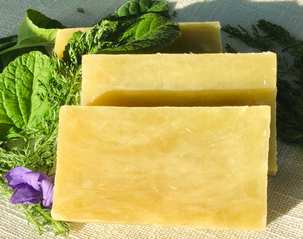 This recipe yields two pounds of beautiful, high lather, moisturizing and conditioning soap.