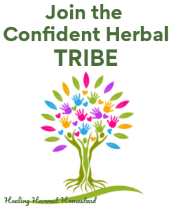 Want a community to learn with each month? Want to learn about specific herbs by actually DOING projects?  Click here to learn about the Confident Herbal TRIBE .