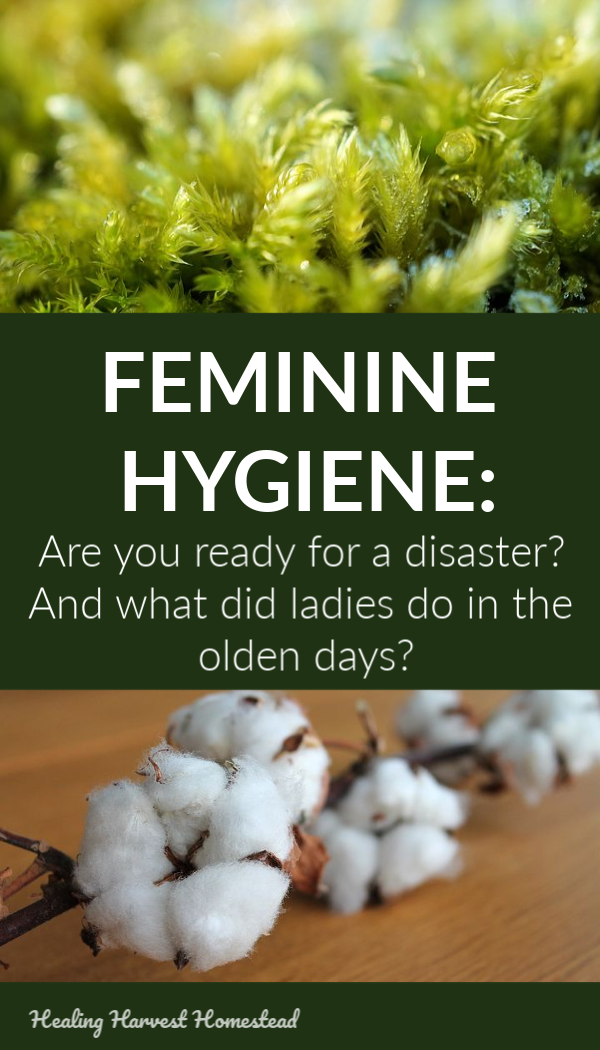 "Have you ever wondered what women during their ""time of the month"" in the olden days? This is likely how we are going to have to deal with feminine hygiene and our period in the event of a long term or short term emergency disaster. Here is a history of menstruation solutions and how to prepare for a disaster in this regard. #femininehygiene #menstruation #period #whattodo #survival #preparedness #emergency #disaster #healingharvesthomestead"
