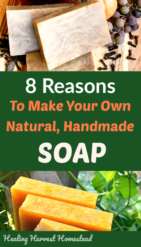 I can think of a million reasons to make handmade soap…but they can be condensed down to these main 8. If you've thought about making your own handmade soap, there's never a better time than now to get started! Holiday gift giving season is right around the corner, and THAT is just ONE of the reasons! Find out how and why you should start making your own soap now! #soapmaking #hotprocess #handmadesoap #howtomake #soap #handmadegift #homemadegift #holiday #naturalsoap