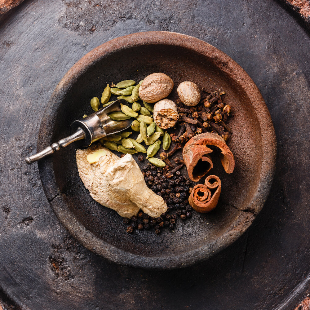 When using herbs for soap colorant, you'll have to ground them into a fine powder. I just use a  good spice grinder  for this.
