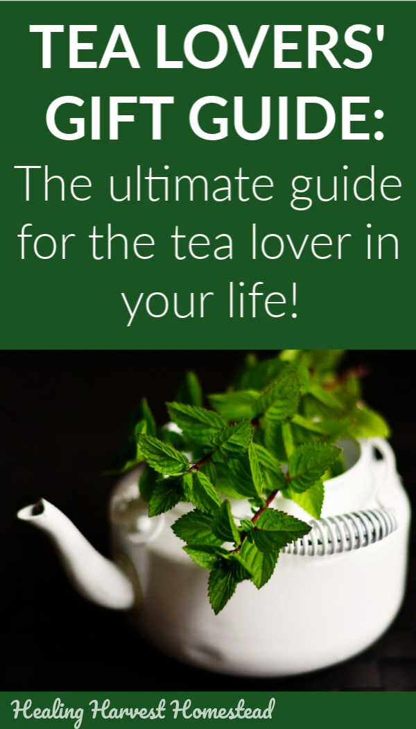 Do you have a tea lover in your life? Take a look at these easy and perfect gift ideas for the friend or family member who loves tea! There are ideas for accessories, tea blends, different styles of tea, and even a fun Art of Tea course that's reasonably priced. Perfect gift ideas! #tea #gifts #teagiftideas #giftguide #tealover #holidaygift #healingharvesthomestead