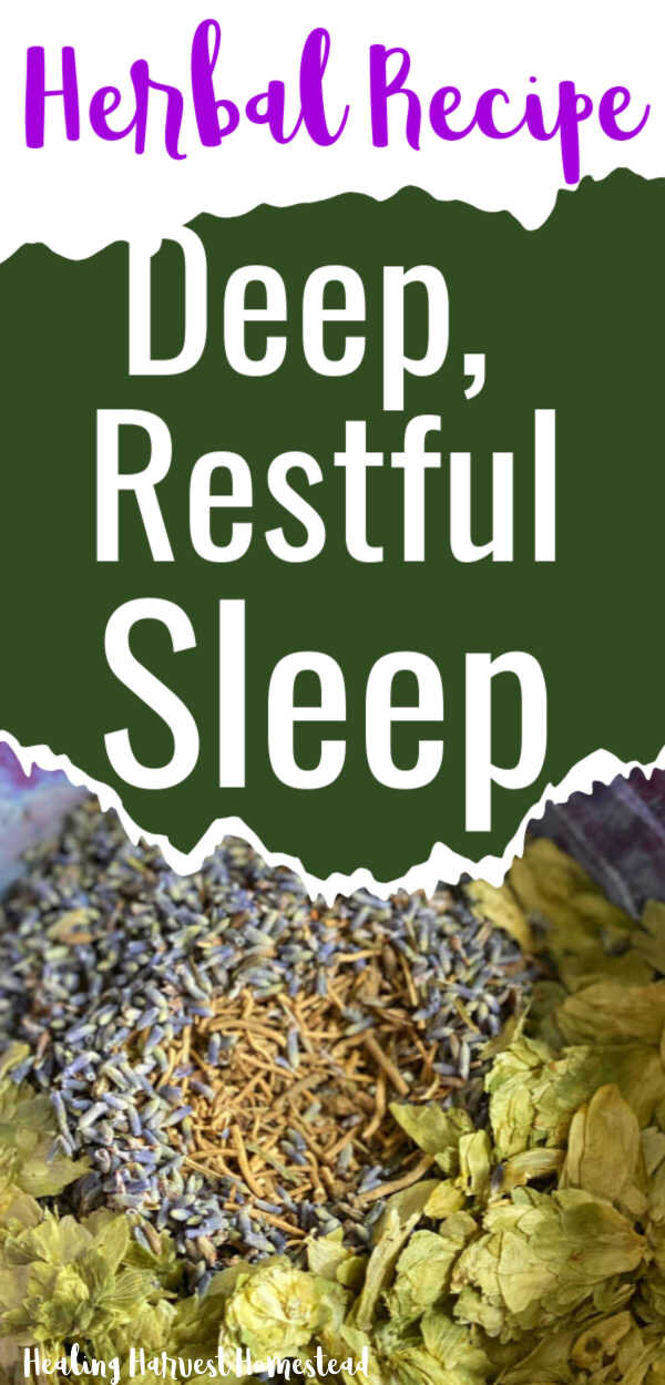 You need a restful, good night's sleep to be your best and look beautiful! Here are scientifically studied herbs that can help you get that restful sleep you've dreamed of! This herbal remedy and recipe blend is easy to make, and best of all, it works! #sleep #beauty #cant #tips #herbsfor #essentialoilsfor #howto #goodnight #healingharvesthomestead #herbalremedy #herbalist #naturalremedy