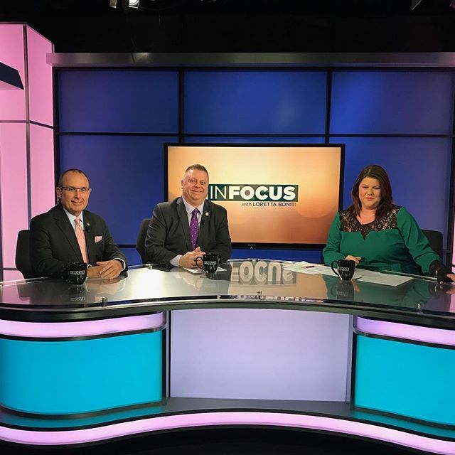This morning Sen. Tarte and I co-chaired IT Oversight, this afternoon we were guests together on the taping of In Focus. Always enjoy spending the day with my friend.