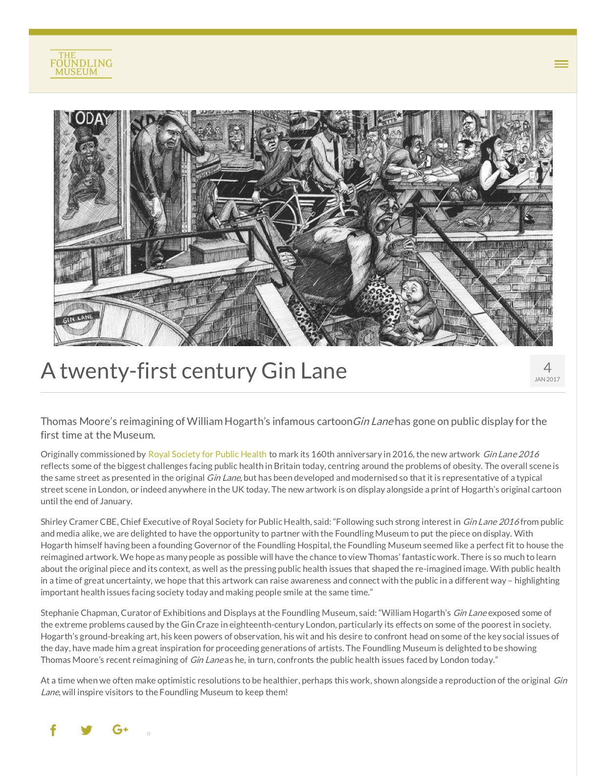 Foundling Museum Article