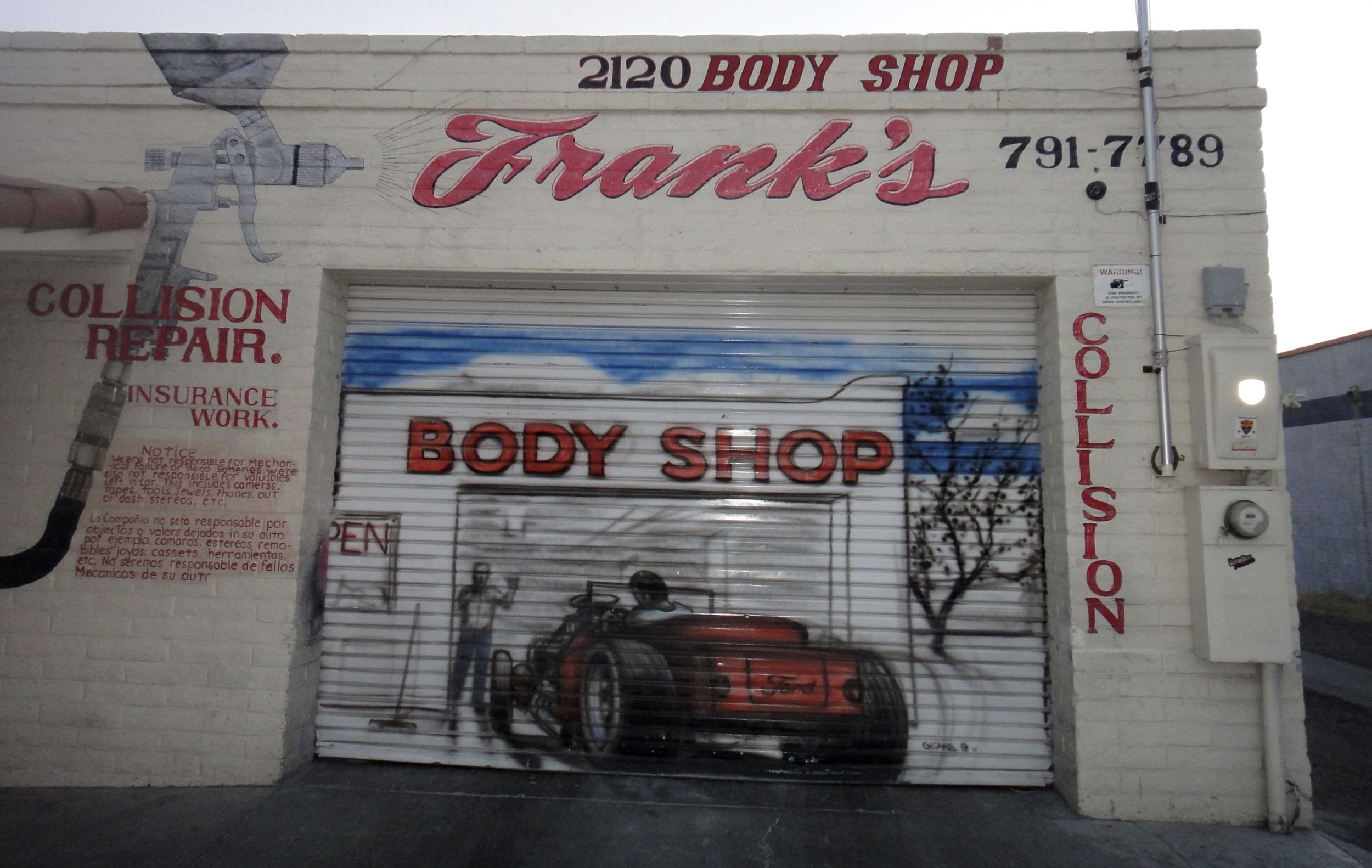 South Tucson is the land of auto repair shops -- radiators, tires, paint jobs, body works, you name it.