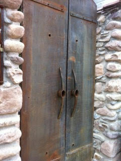 This blog rarely ventures beyond the Tucson area, but I had to include these pickaxe handles in the former copper mining town of Bisbee.