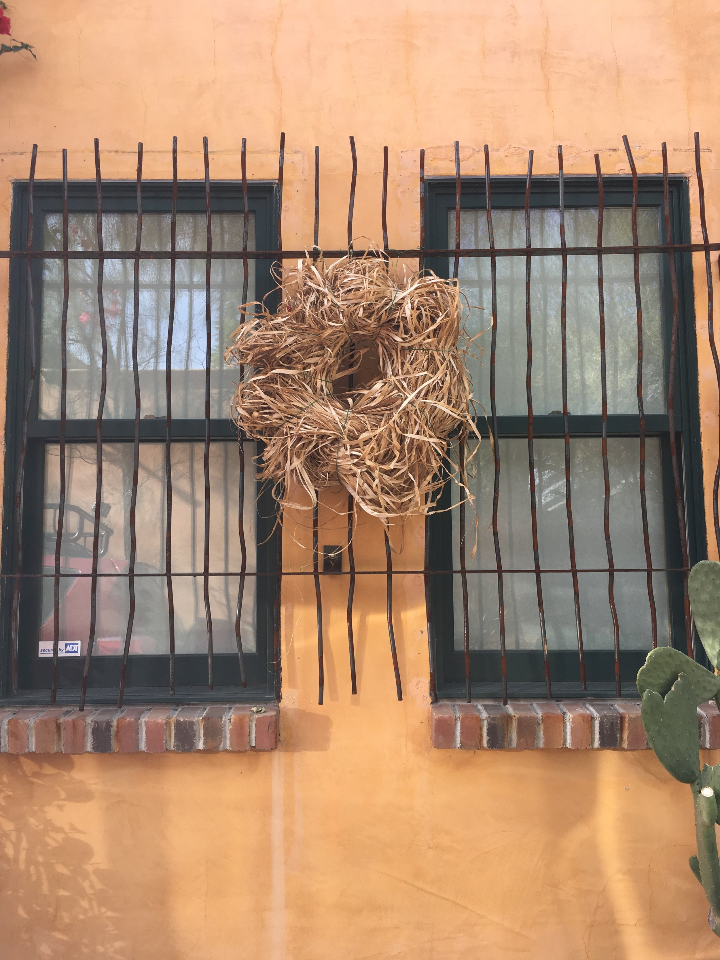 Love this wild looking wreath in Barrio Santa Rosa on the south side of downtown.