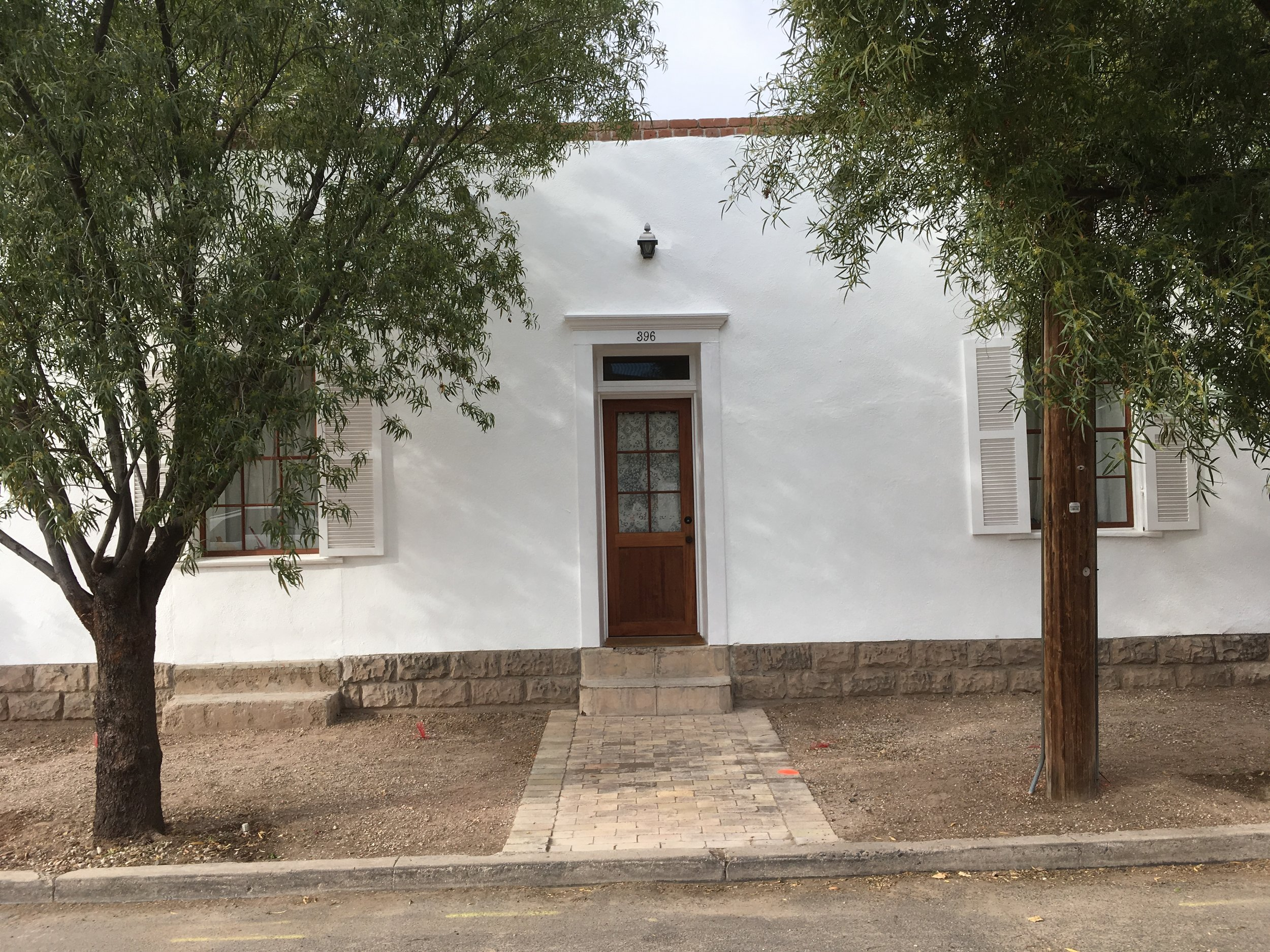 396 S. Convent on Dec. 31, 2018. It's gone white and the door on the left is a door no more.