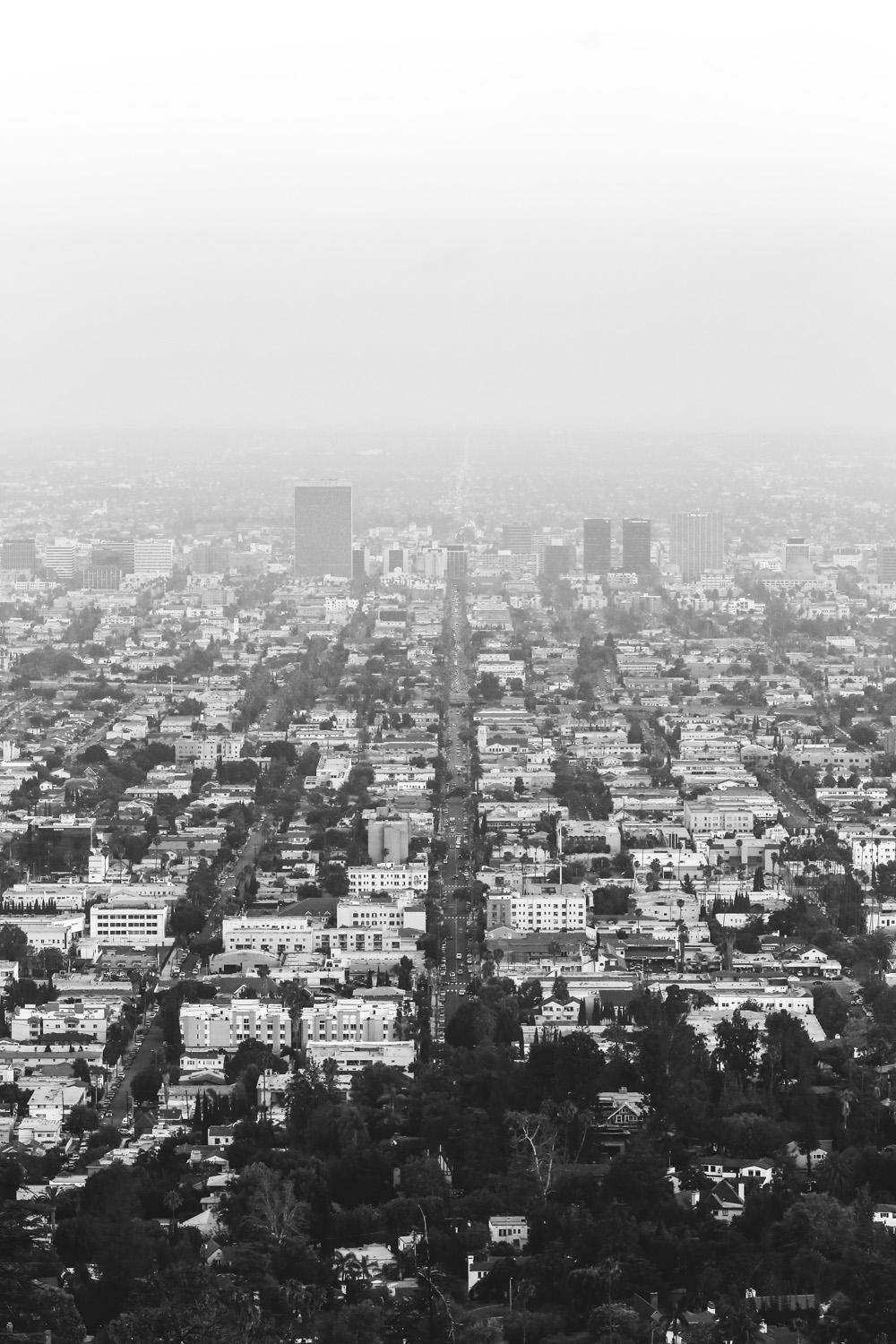 Downtown LA from Griffith Observatory.