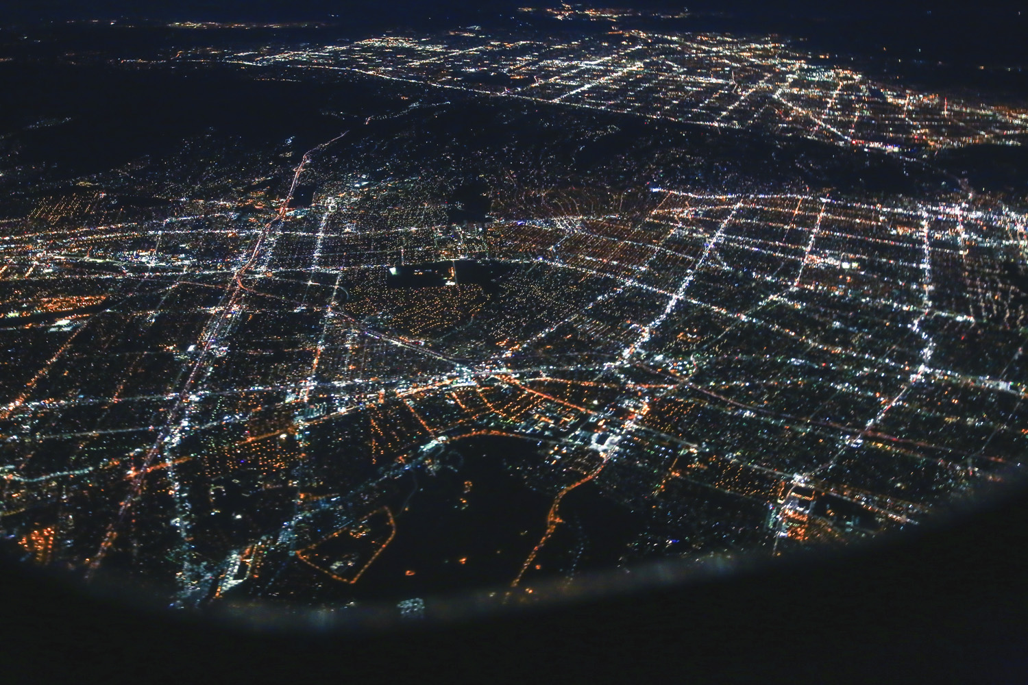 Views of LA from the fight home.