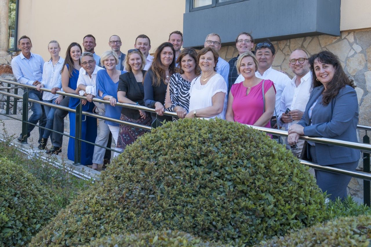 Partners, Dina Petrosky and Joanne Hogue join the GlobalCom team in Mallorca, Spain for its annual meeting (May 2017)
