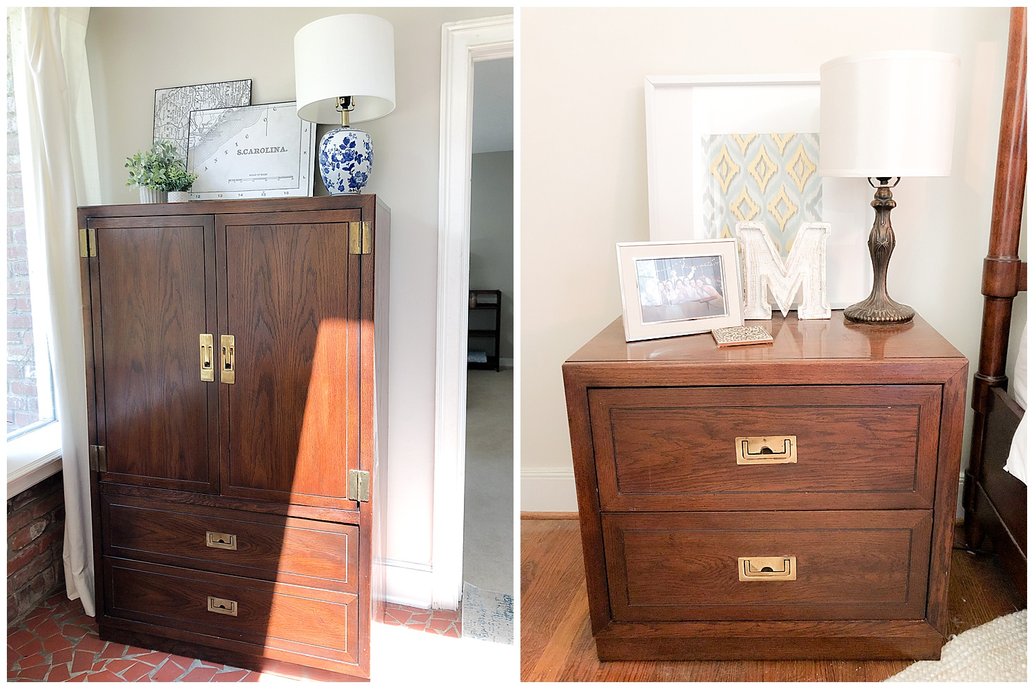 DIXIE ARMOIRE + 2 BEDSIDE TABLES: $150