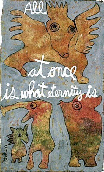 By Kenneth Patchen, poem/painting. SF artist/writer who spent his life bedridden in constant pain