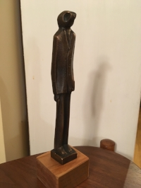 Hammett Prize: The Thin Man Statue. designed by Peter Boiger, presented to Domenic Stansberry for  The White Devil.