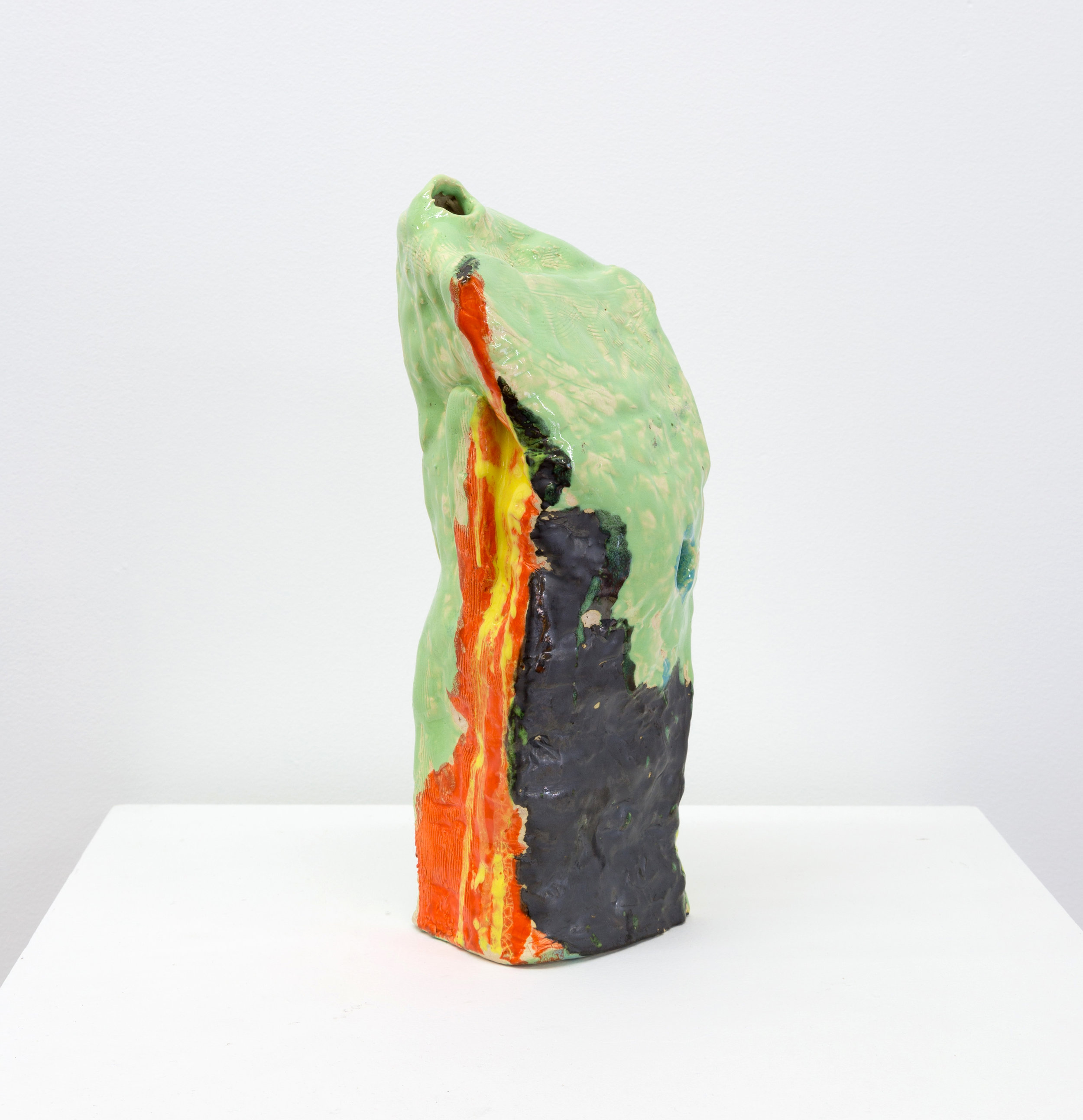 Something about morning , 2012 clay and glaze 15 x 5 x 5 in