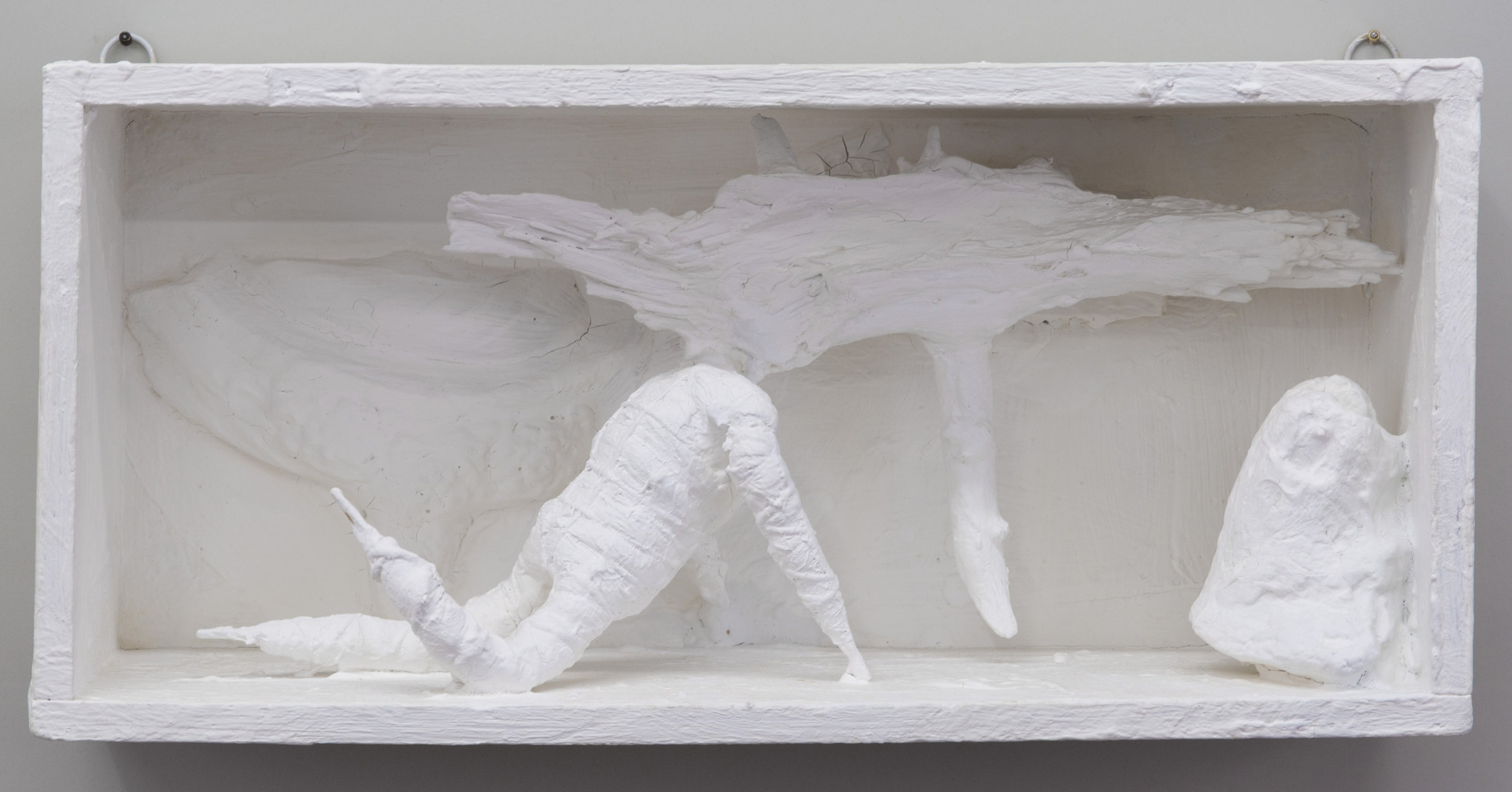 Untitled , 2012 painted wood and various materials 7 x 15 1⁄8 x 4 7⁄8 in