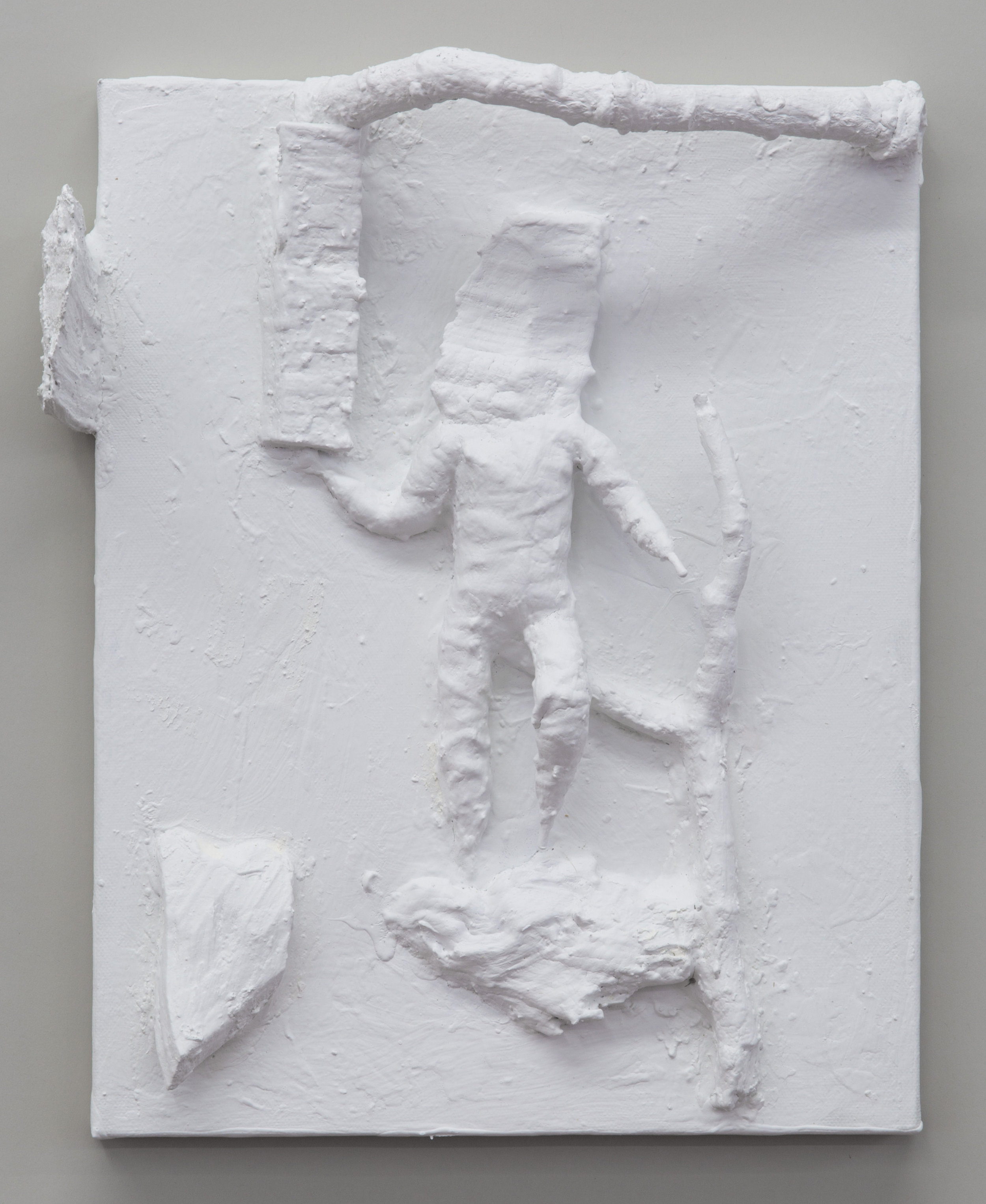 Untitled , 2015 painted wood and various materials 14 5⁄8 x 11 3⁄4 x 3 3⁄4 in