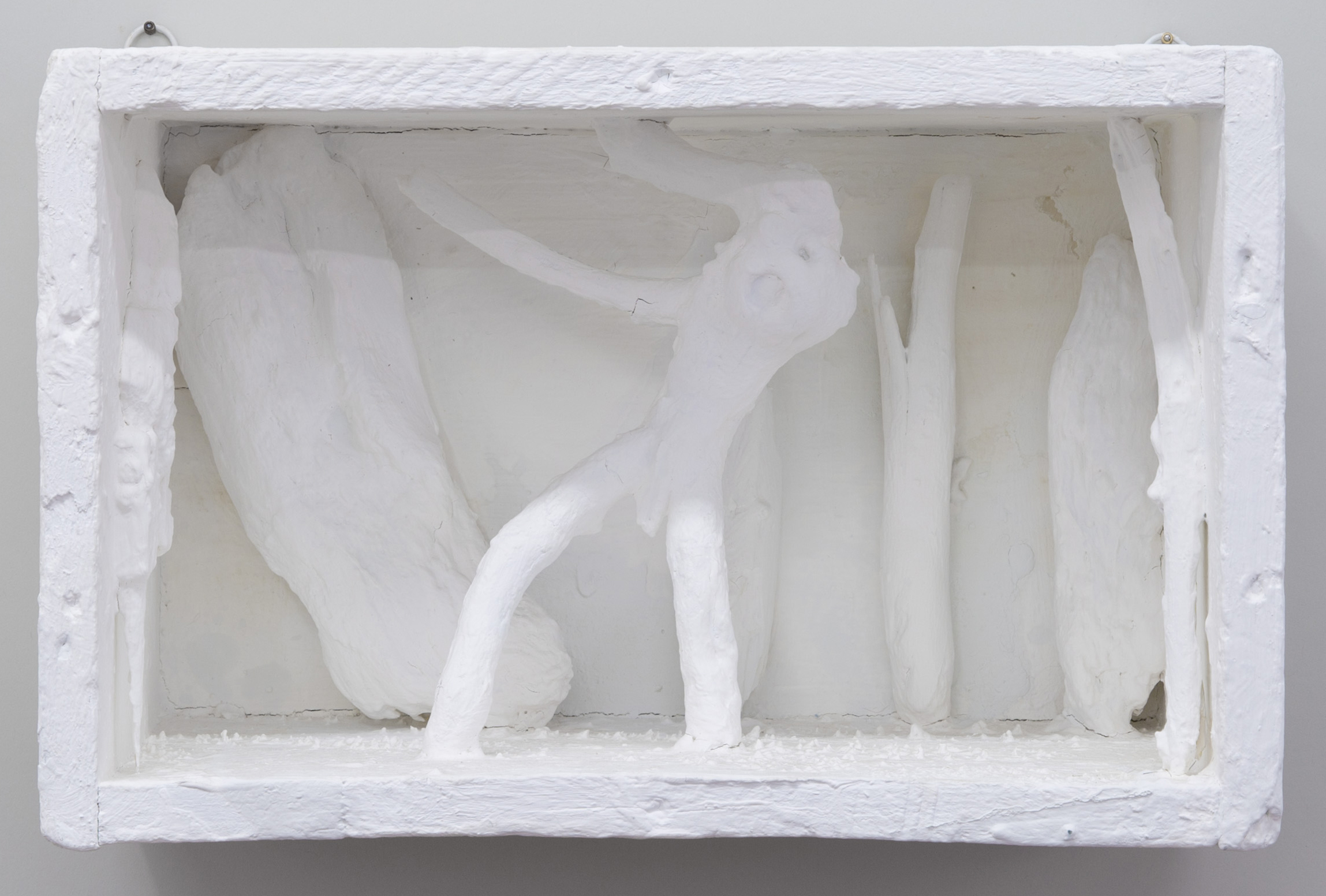 Untitled , 2012 painted wood and various materials 8 1⁄2 x 13 1⁄2 x 6 3⁄4 in