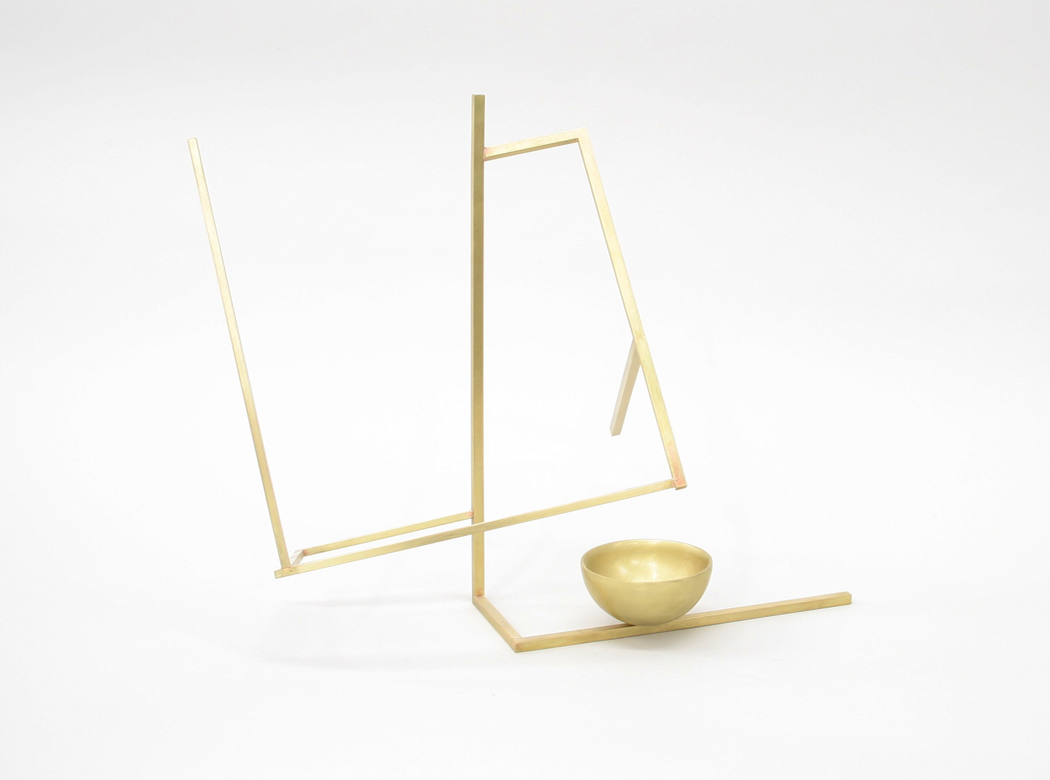 Untitled (S2.3) , 2017 brass 12 1⁄4 x 14 x 9 in