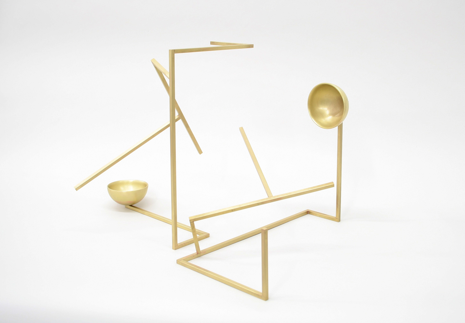 Untitled (S3.2) , 2017 brass 12 1⁄4 x 18 x 12 1⁄4 in