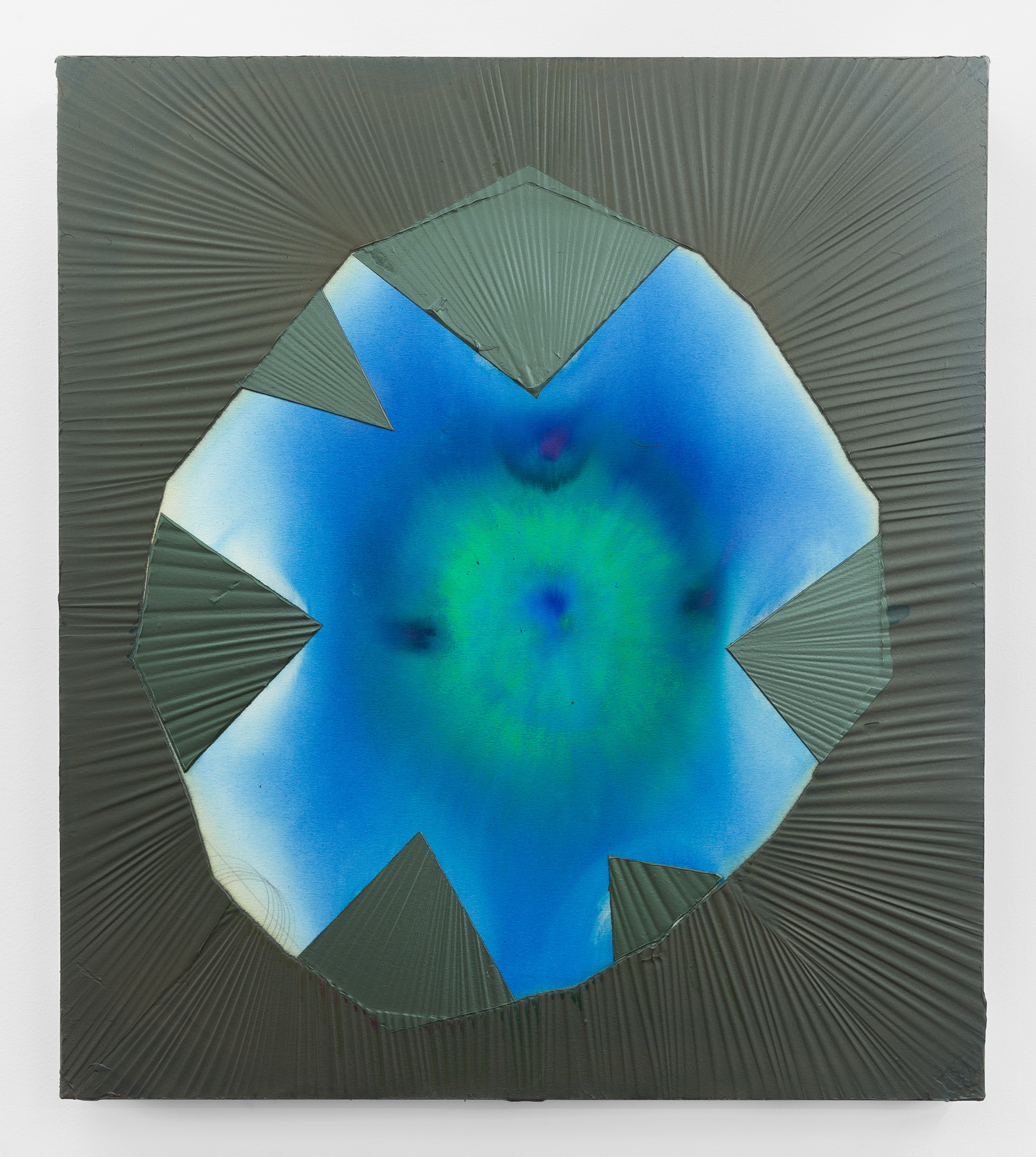 Bighorn Pool , 2018  acrylic on canvas 36 x 32 in
