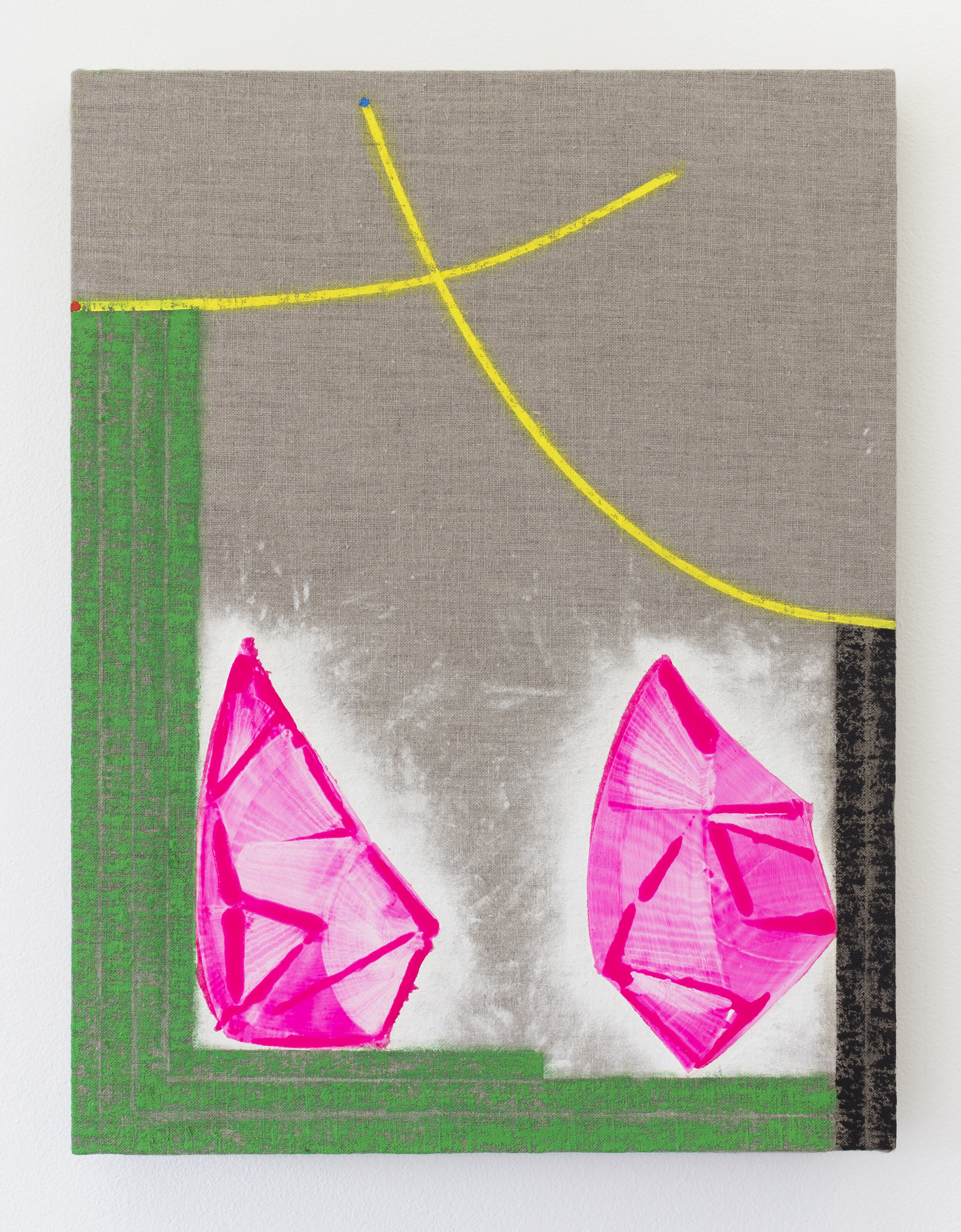 Transistor , 2019  oil, marble dust on linen wrapped panel  21 x16 in