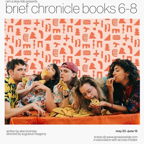 🚨talented friends alert🚨 go see @iamaslowtide's debut show BRIEF CHRONICLE, BOOKS 6-8 — playing now through June 15!
