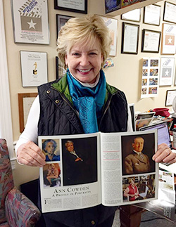 Ann Cowden holds the February issue of Nashville Arts.