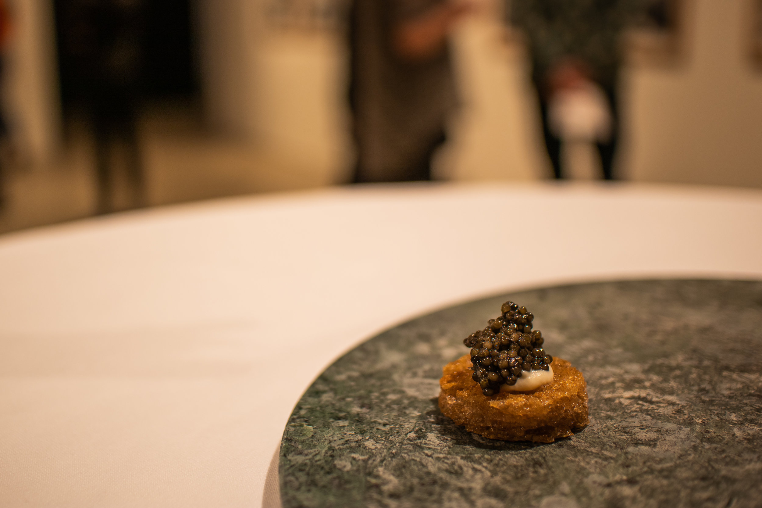 in the gallery - Prosjekt Gjerdeløa, 1980 – 2014, Marianne HeskeTwo servings of caviar, imitation and realBirds, Noelia Mora Solvez, 2018Soft-boiled quail egg served in egg cartonHouse, Doug Aitken, 2010Dehydrated mousse of chocolate, malt dirt and popping candy