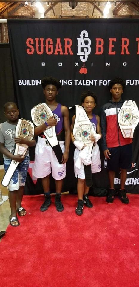 "From left to right: Xavier ""Zay"" Johnson, Brian Blake, Denota ""Red"" Daniels, and Rayonta ""RJ"" Whitfield, Jr."