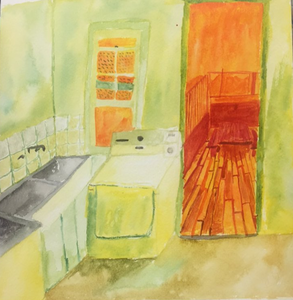 color study   watercolor on paper
