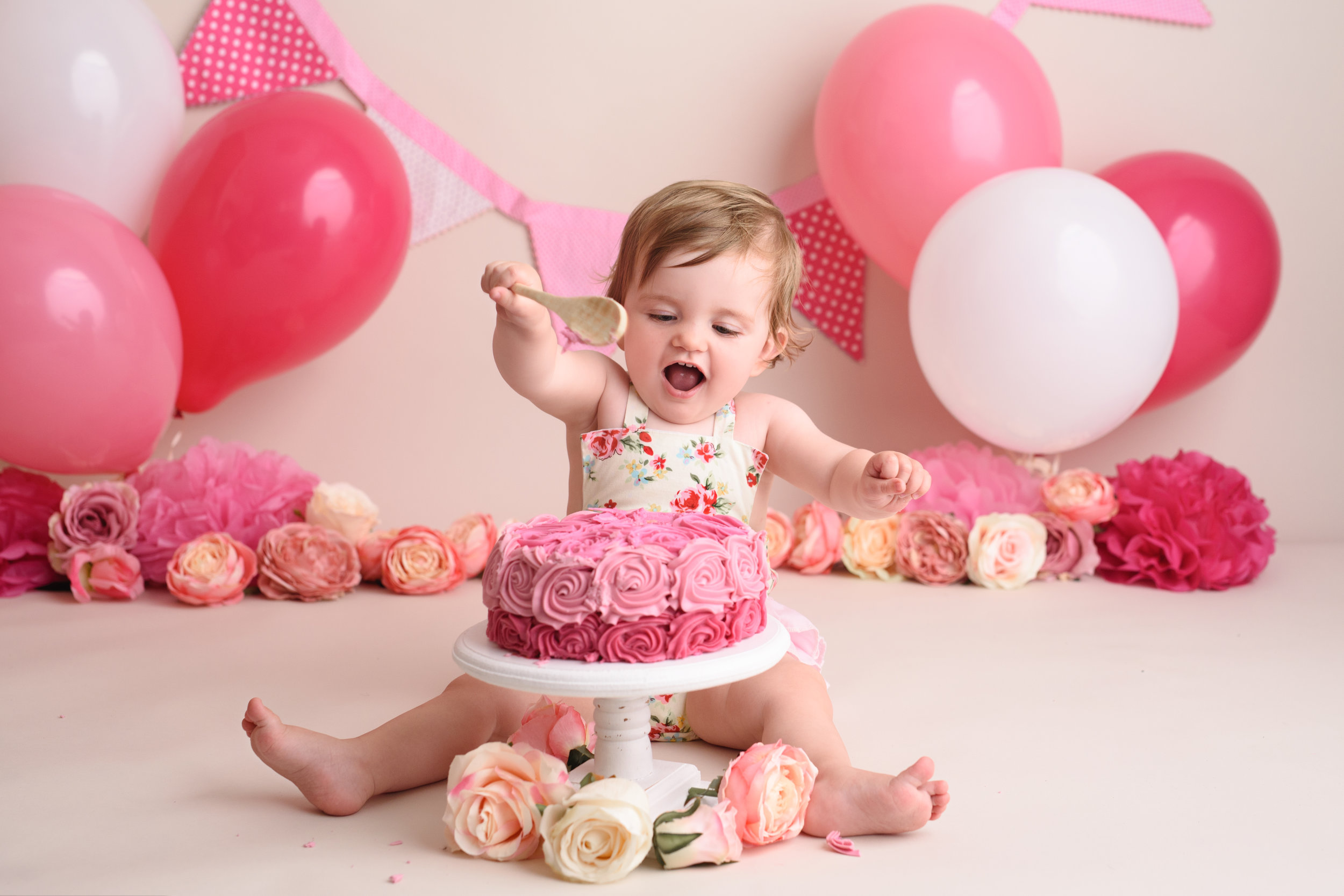 First Birthday Celebration Cake Smash Photographer based in Dorset