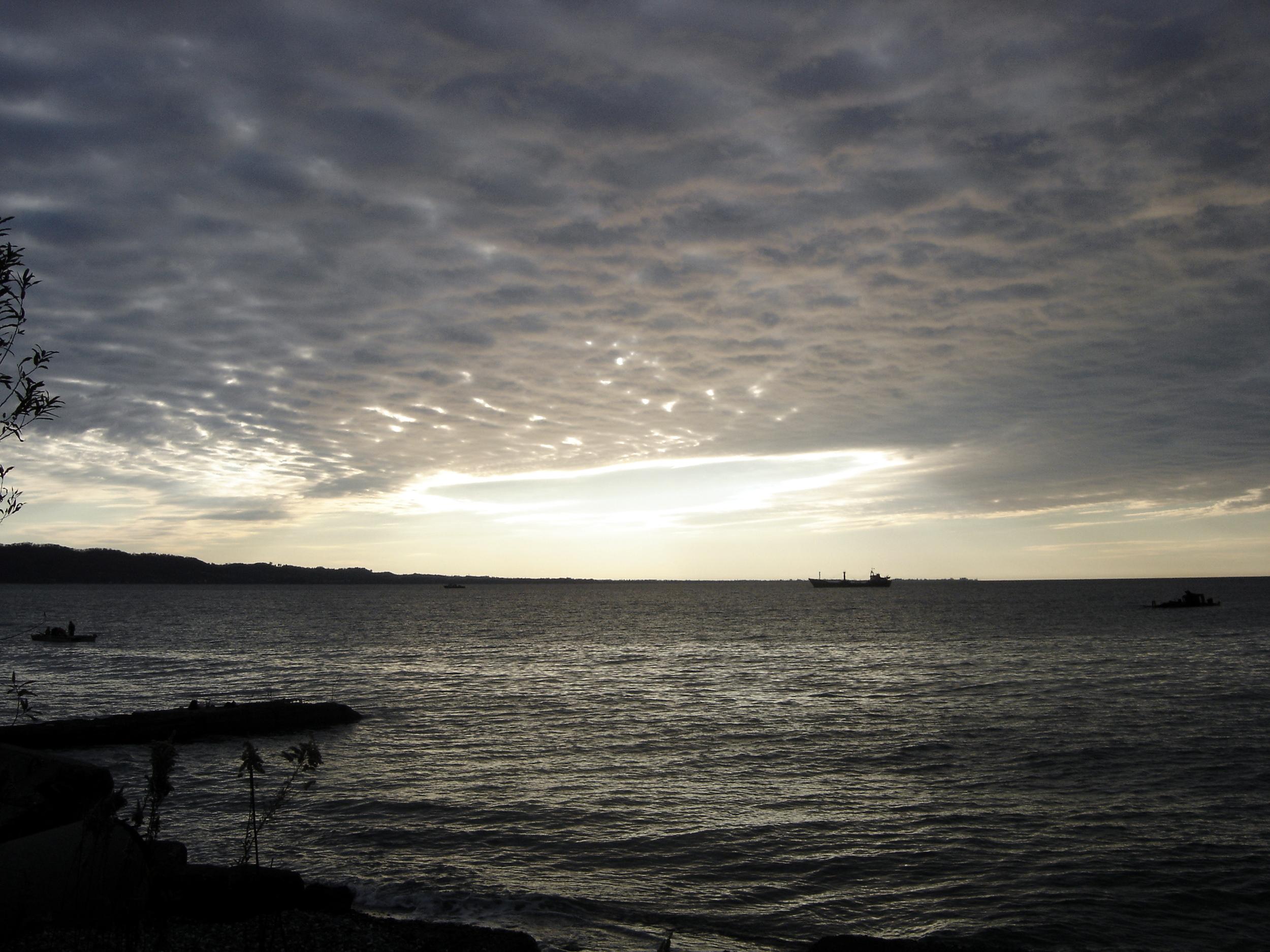 Sunrise over the Black Sea in Sukhumi, Abkhazia.