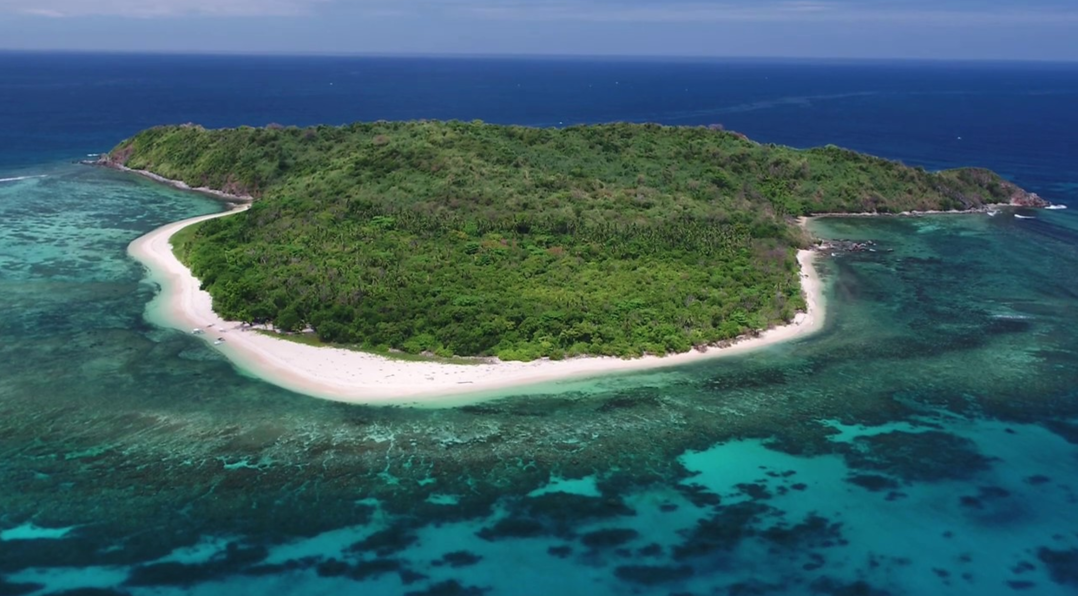 Your uninhabited desert Island from above