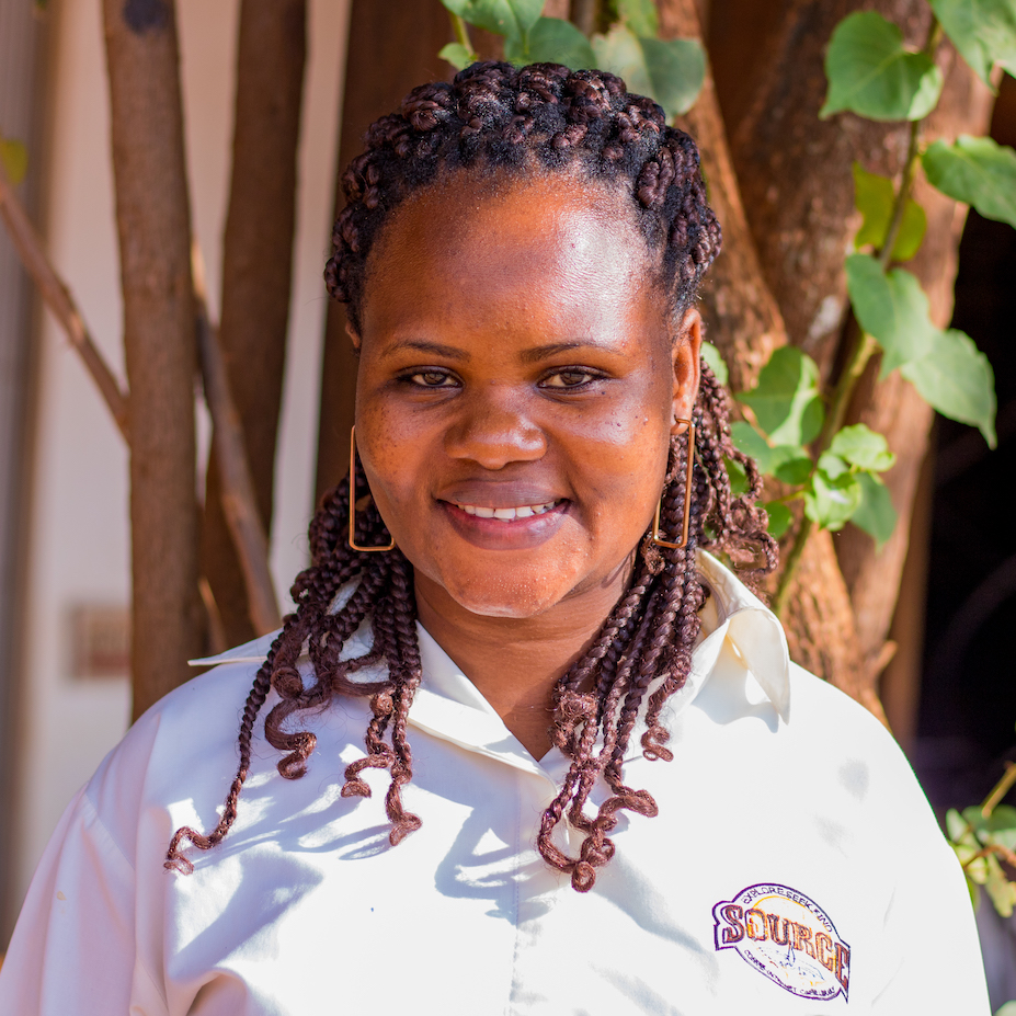 Maximillah has worked at the Source for approximately nine years. She is originally from Kenya and is married with two children. Maximillah said she enjoys working at the Source because the staff is self-driven and motivated.