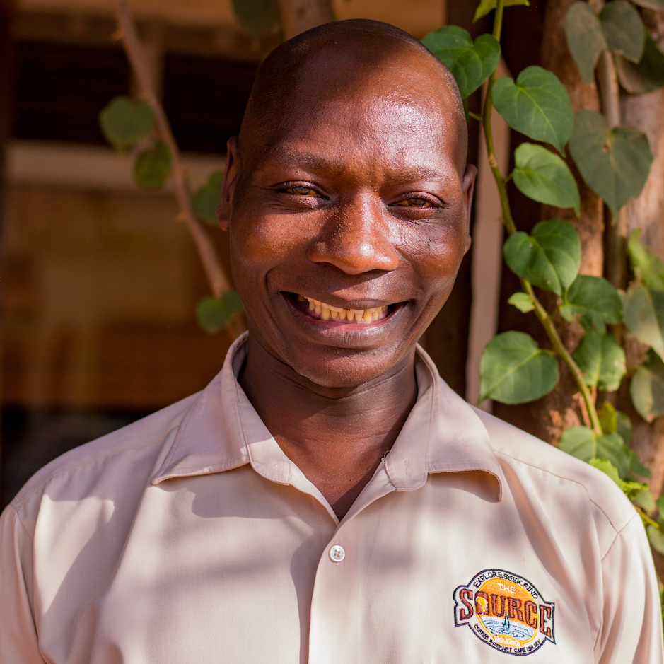 Sam began serving at the Source as a boda boda career in Jinja. He takes pride in working at a competitive cafe with professional employees.