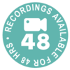 Video recordings available for 48 hours after the live class