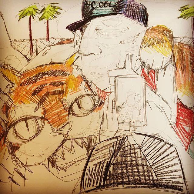#wip #tigerselfies #sketch #selfiemonsters  #pencildrawing  A new sketch for a painting for my selfie series.