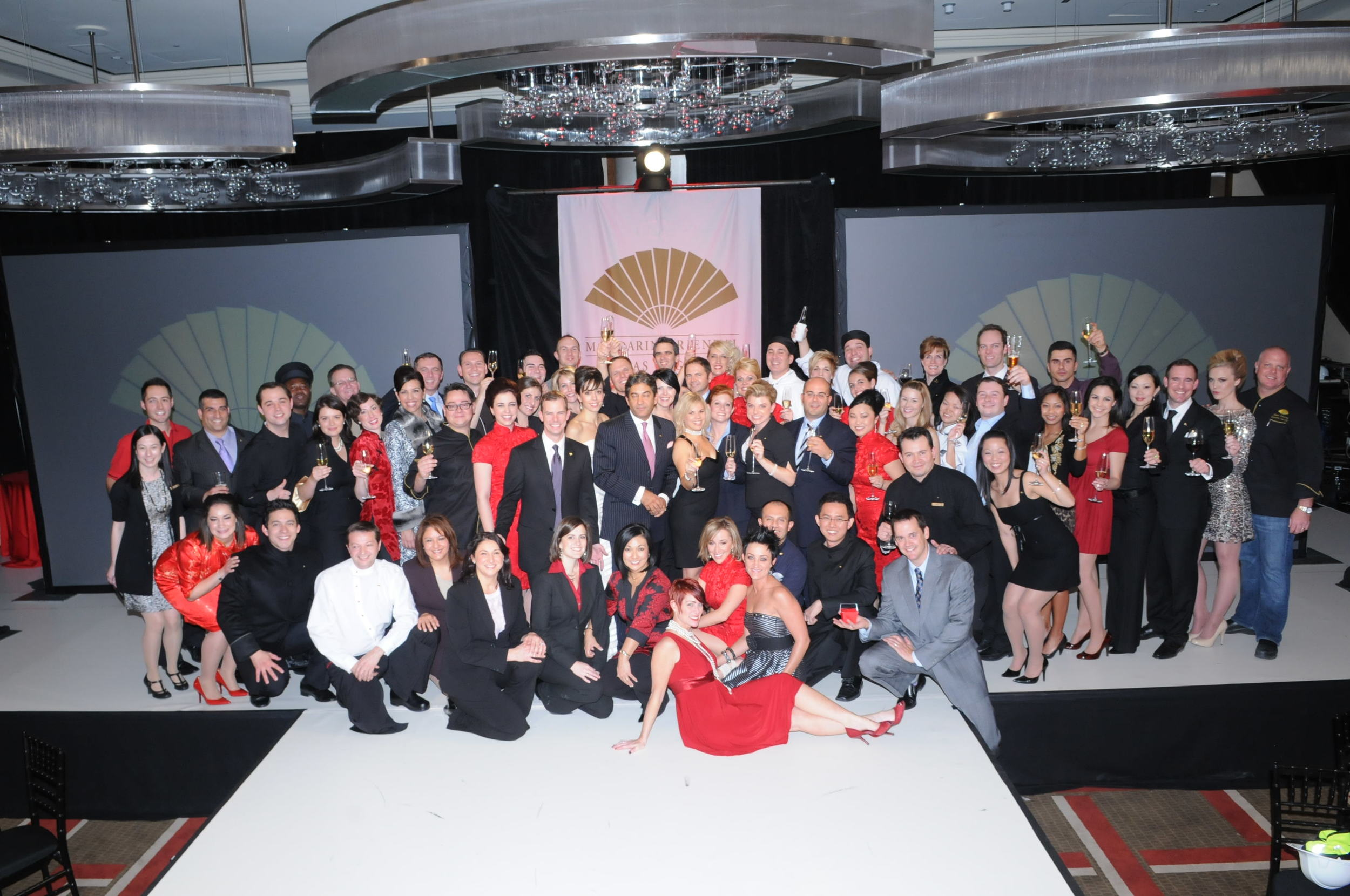 The Mandarin Oriental Team Members, General Manager and Asst. General Manager, Winning Edge Team, including Tanja Nikolic.