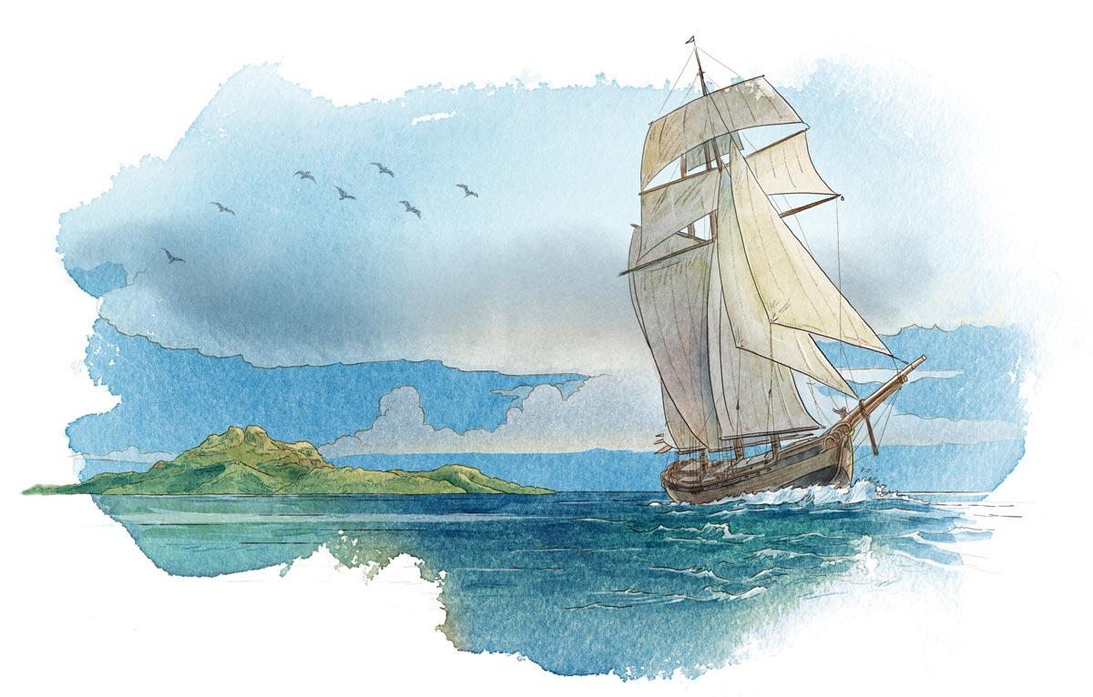 The Hispaniola returns home